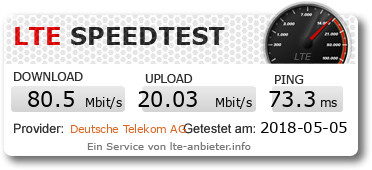 LTE-Speedtest mit MagentaMobil Start