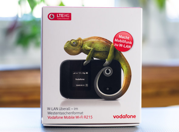 Packung des Vodafone Wi-Fi R215