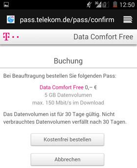 Data comfort free