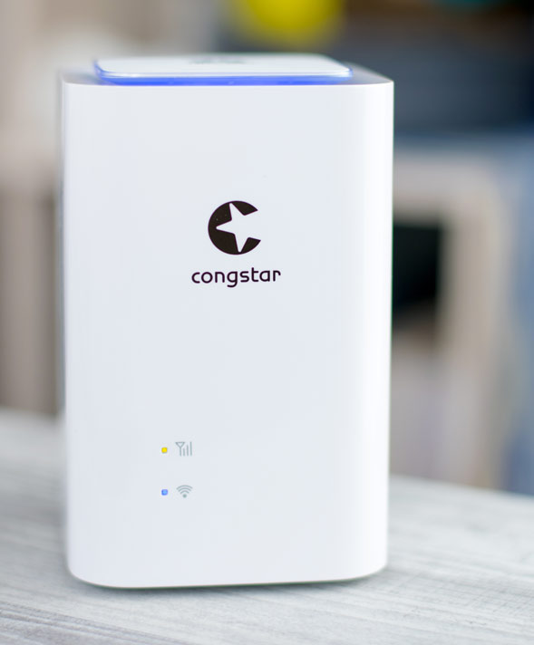 congstar LTE-Cube Frontseite mit Info LEDs