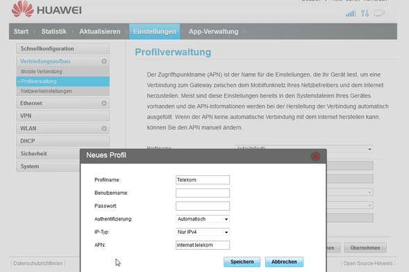 Profilverwaltung