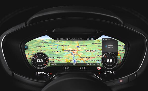 Audi LTE im Cockpit