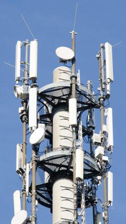 Antennen am LTE-Mast