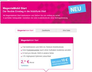 Prepaid 4G-Angebot der Telekom