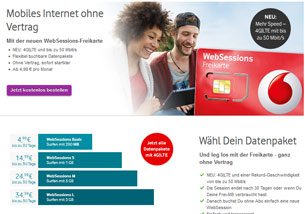 vodafone websessions prepaid tarife jetzt auch mit lte. Black Bedroom Furniture Sets. Home Design Ideas