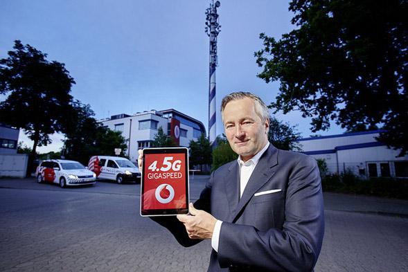 Vodafone präsentiert 4.5G Start