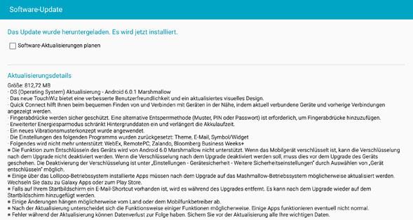 Vorteile des Updates auf Android 6 Screenshot