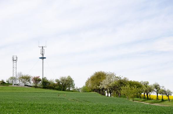 LTE Mast auf dem Land