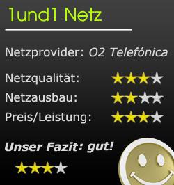 1und1 Bewertung Mobilfunknetz