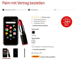 Mini Palm bei Vodafone