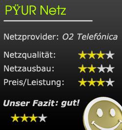 Mobilfunknetz Bewertung von PYUR