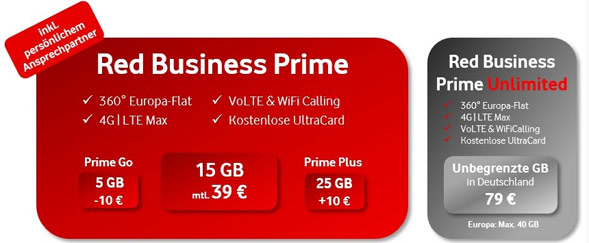 Red Business Prime Tarife