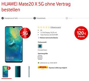 5G Smartphone von Vodafone