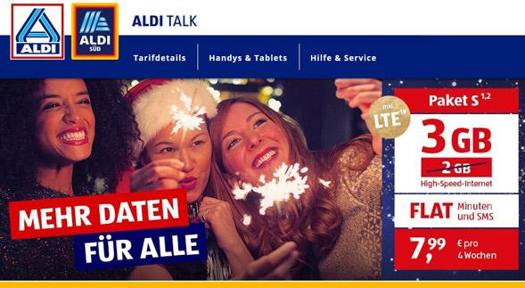 neue Aldi LTE-Tarife