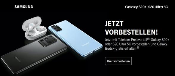 Galaxy S20 bei der Telekom vorbestellen