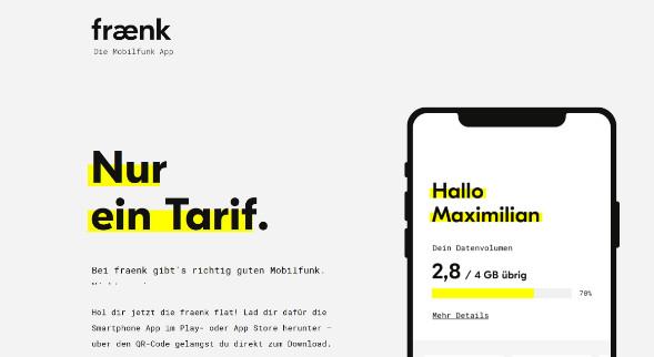 Fraenk Webseite