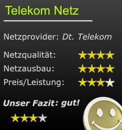 Wertung zum Netz der Dt. Telekom