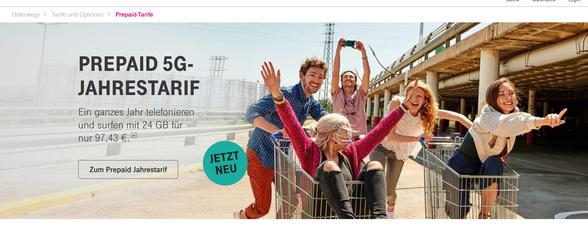 Jahrespacket mit LTE/5G von der Telekom