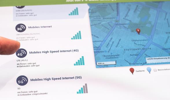 O2 Ausbaukarte zur Netzabdeckung