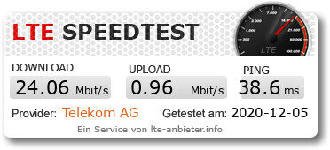 LTE-Speedtest mit fraenk in FritzBox 6890