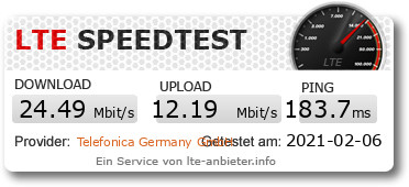 LTE-Speedtest mit Aldi-Talk im Handy