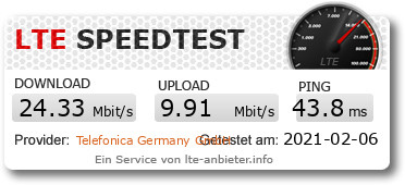 Speedtest Aldi Talk in einer FritzBox
