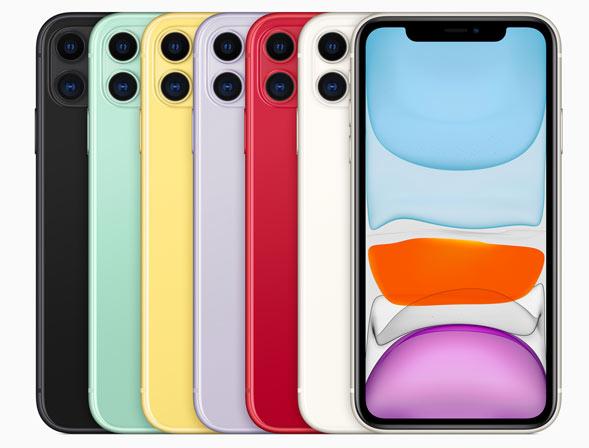 iPhone 11 in verschiedenen Farben